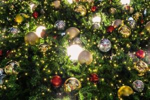 Christmas tree lights photo