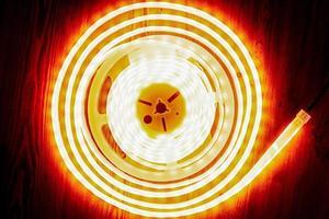 Spool of lit LED strip photo