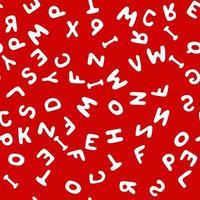 Seamless pattern alphabet vector