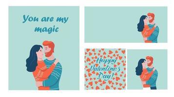 Valentine's day card set vector