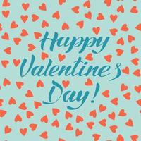 Valentine's day lettering card vector
