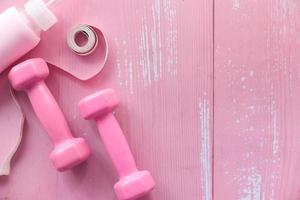 campanas rosa sobre fondo rosa foto