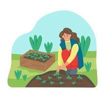 Gardening on the farm vector