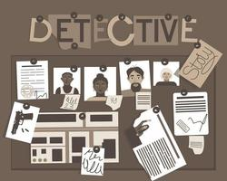 Detective story board vector