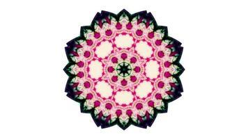 movimento simétrico de caleidoscópio colorido