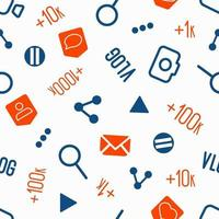 Seamless pattern  social network icons vector