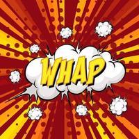 WHAP wording comic speech bubble on burst