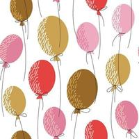 Seamless pattern with  balloons for decoration design vector