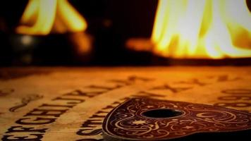 Ouija Board Game and Fire