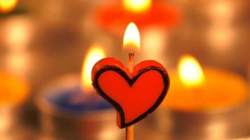 Heart Shape of Candle Light