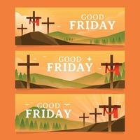 Good Friday Banners vector