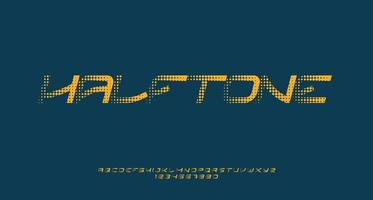 Italic Font with Halftone Effect vector