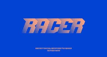 Halftone Text Effect with Italic Sporty Font vector