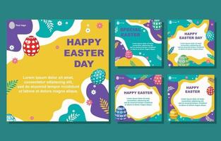 Easter Eggs Social Media Post vector
