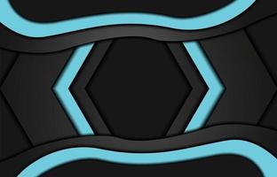 Fondo de papercut realista abstracto. fondo geométrico abstracto. ilustración vectorial 3d. ilustración vectorial eps 10 vector