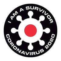 I am survivor of coronavirus 2020 japan flag sticker