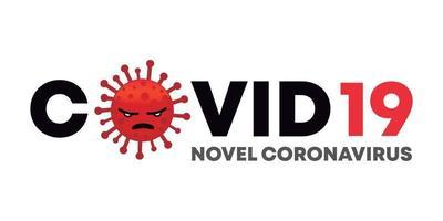 Covid 19 Novel coronavirus cartoon virus design vector