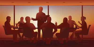 reunión de dirección estratégica en una empresa. vector