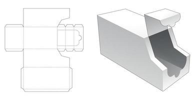 Plantilla troquelada de embalaje en forma de camión con cremallera vector