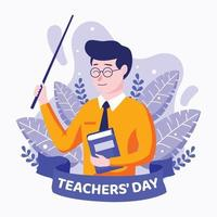 Teacher's Day Concept Design vector