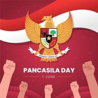 Indonesian Pancasila Day Design vector
