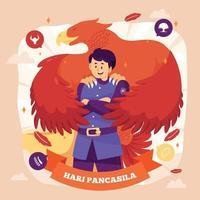 Hari Pancasila Design vector