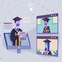 Graduation Ceremony Online vector
