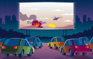 Drive In Cinema vector