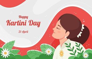 Happy Kartini Day Design vector