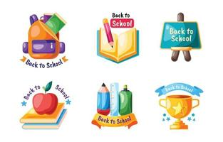Back to School Label Collection vector