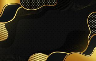 Abctract wave black gold background vector