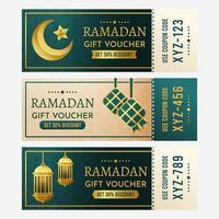 colecciones de vales de regalo de Ramadán vector