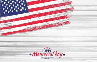 día conmemorativo americano con fondo de madera vector