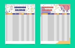 Ramadhan Calendar Template vector