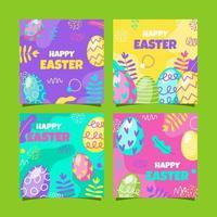 Happy Easter Social Media Post vector