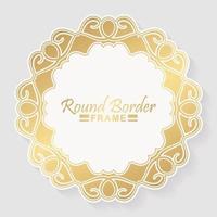 Luxury round border frame design vector