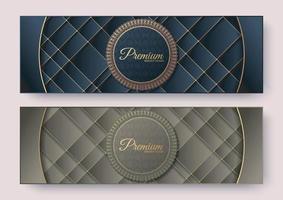 Premium menu card banner template design vector