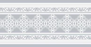 White ornamental border Design Template vector