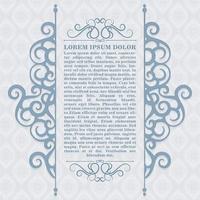 diseño de plantilla de vector de marco de cuadro de comillas de adorno vintage y lugar para el texto. retro florece el estilo de la pizarra del marco.
