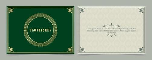 Vintage ornament greeting card calligraphy ornate swirls and vignettes vector