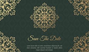 Floral Mandala background design template vector