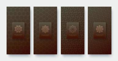 fondo de diseño de patrón de ornamento de banner de lujo vector