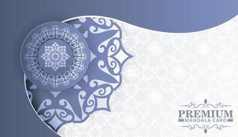 Elegant mandala background concept design vector