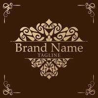 Logo template flourishes calligraphy elegant ornament lines. vector