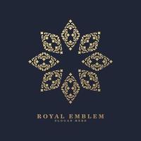 luxury ornament style line art logo vector