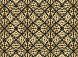 fondo de diseño de patrón de ornamento de oro de lujo vector