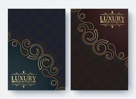 luxury book cover with ornamental pattern texture vector