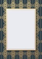 Luxury geometric pattern flyer text design vector