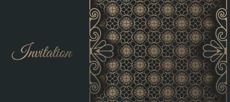 patrón ornamental de estilo de fondo de invitación de lujo vector