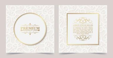 Luxury white floral decorative card vector